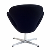 Jacobsen Swan Chair Wool Black