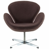 Jacobsen Swan Chair Wool Brown