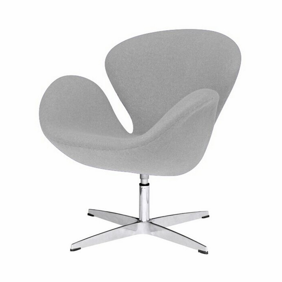 Jacobsen Swan Chair Wool Gray