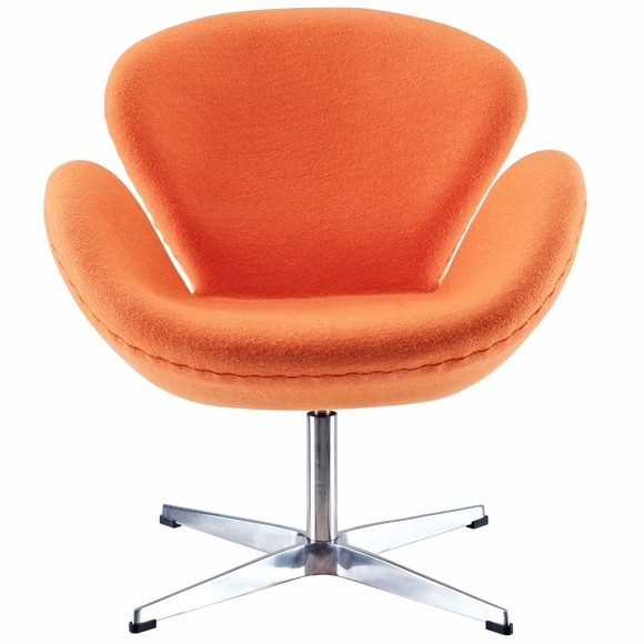 Jacobsen Swan Chair Wool Orange