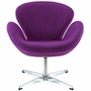 Jacobsen Swan Chair Wool Purple