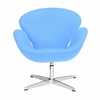 Jacobsen Swan Chair Wool Sky Blue