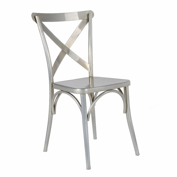 Jenbo Dining Side Chair, Gunmetal