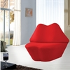 Kiss Red Chair in Wool