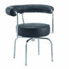 LC7 Swivel Armchair in Black Leather