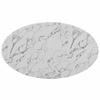 "Lippa 54"" Oval-Shaped Artificial Marble Dining Table"