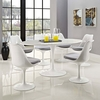 """Lippa 60"""" Oval-Shaped Wood Top Dining Table"""