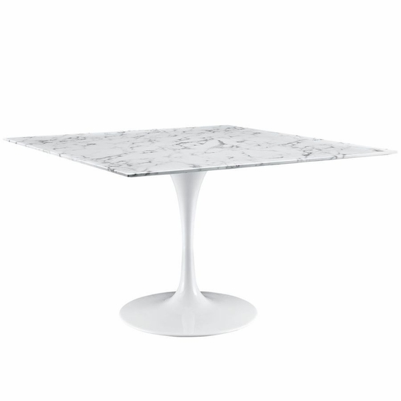 """Lippa Marble Dining Table 48"""""""