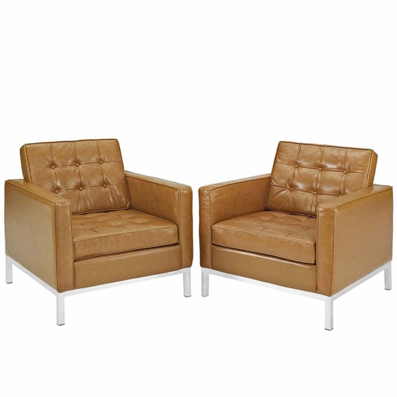 Loft Armchair Leather Set of 2