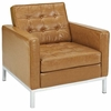 Loft Armchair Loveseat and Sofa Set Leather 3 Piece Set