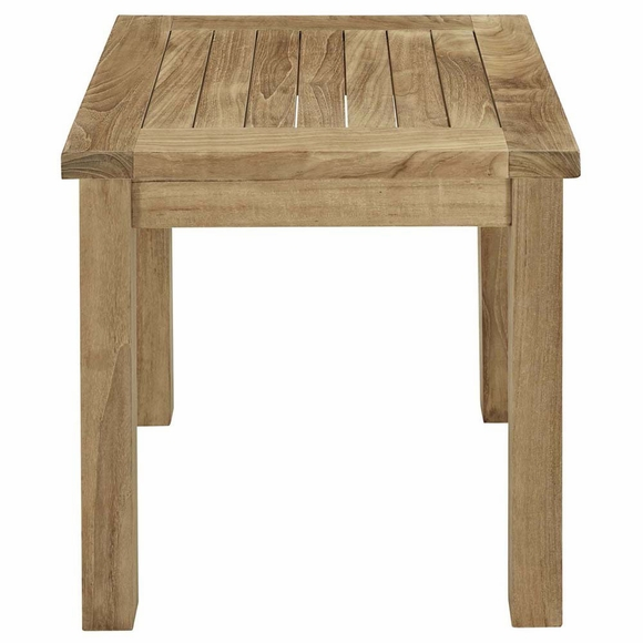 Marina outdoor patio teak side table modern in designs for Outdoor teak side table