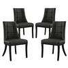 Noblesse Vinyl Dining Chair Set of 4