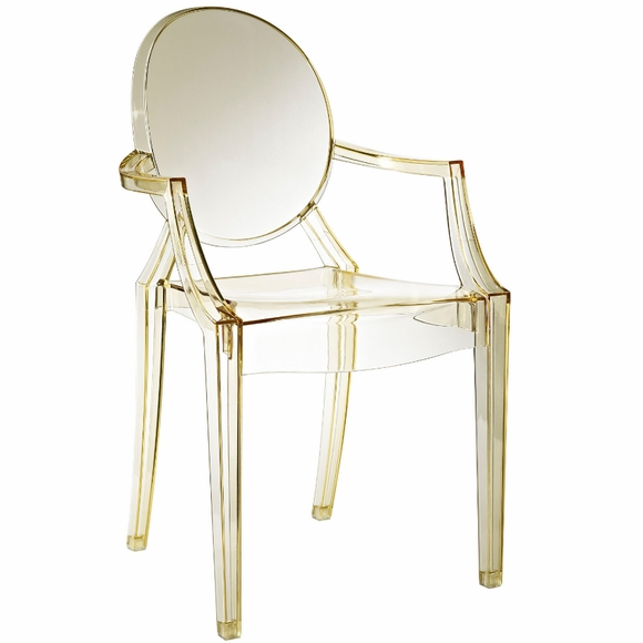 Starck ghost chair clear side arm chair modern in designs for Philippe starck style
