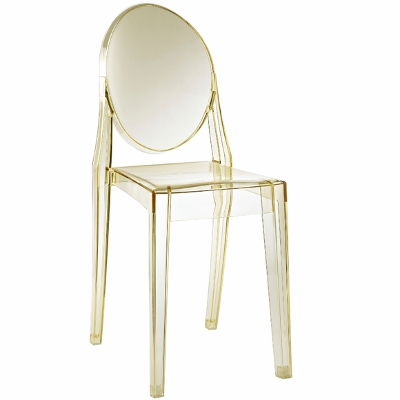 philippe starck style ghost side chair. Black Bedroom Furniture Sets. Home Design Ideas