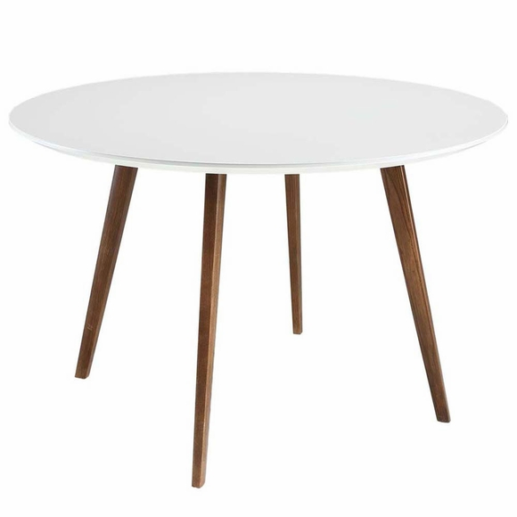 Platter Dining Table in White
