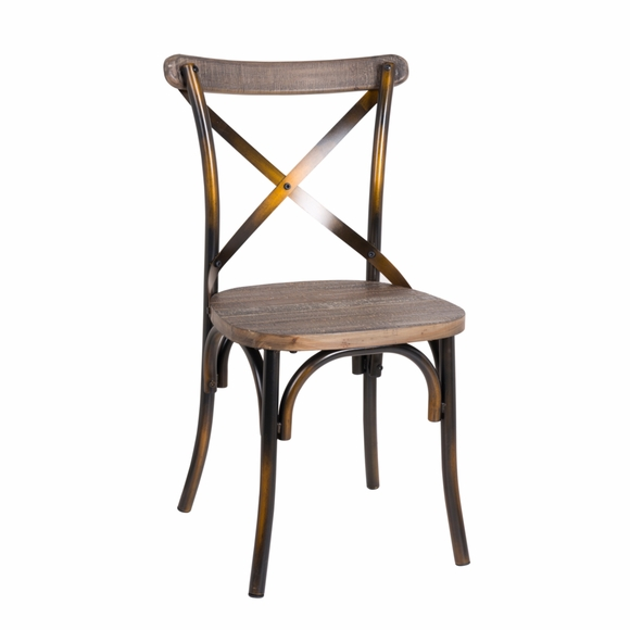 Porch Wooden Dining Chair, Copper