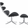 Poul Volther Corona Chair & Ottoman Leather