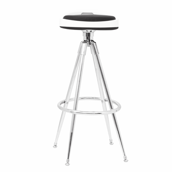 Sculpt Chrome Bar Stool