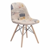 Solo Dining Chair Vintage Postage Print