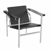 String Cowhide Leather Flat Chair