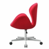 Swan Chair Fabric with Casters, Red