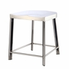 Swiss Polished Bar Chair, Silver