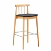 Thin Plywood Bar Stool, Black