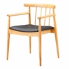 Thin Plywood Dining Arm Chair, Black