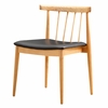 Thin Plywood Dining Side Chair, Black