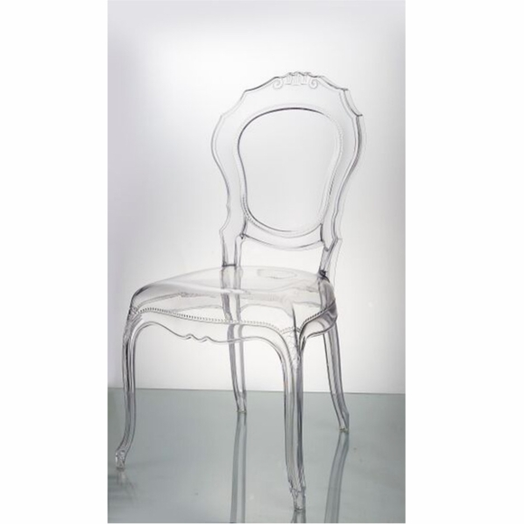 Traditional Dining Chair, Clear