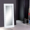 Tufted Faux Leather Mirror