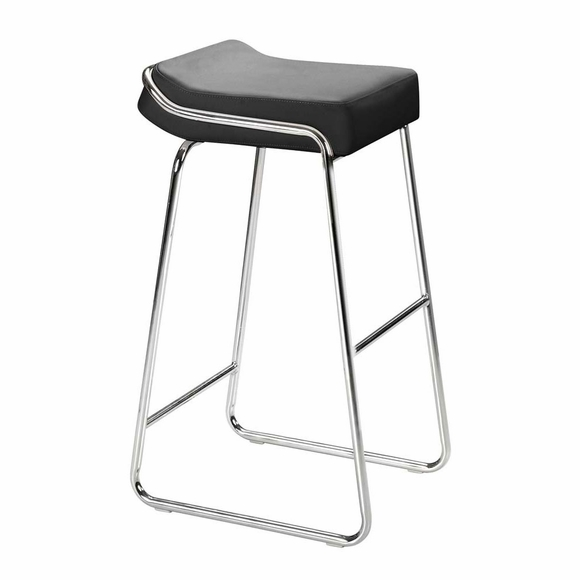 Wedge Bar Stool Black Set of 2