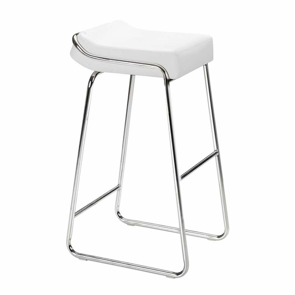Wedge Bar Stool White Set of 2