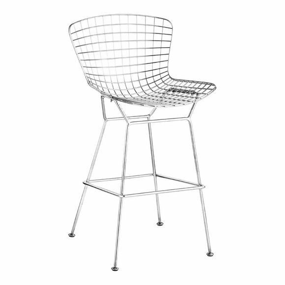 Wire Bar Chair Chrome Set of 2