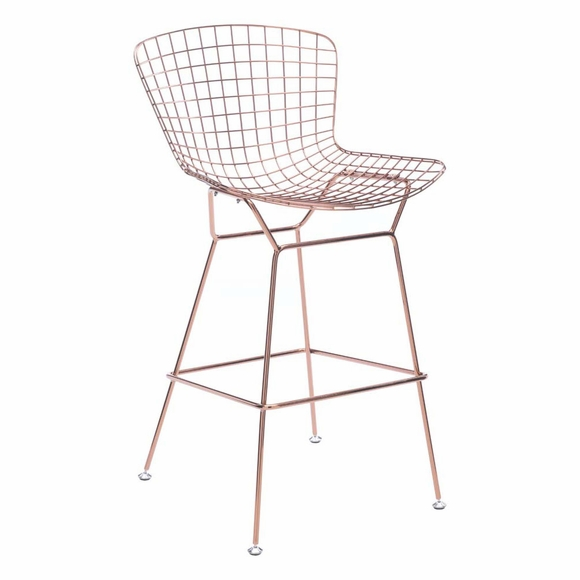 Wire Bar Chair Rose Gold Set of 2