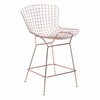 Wire Counter Chair Rose Gold Set of 2