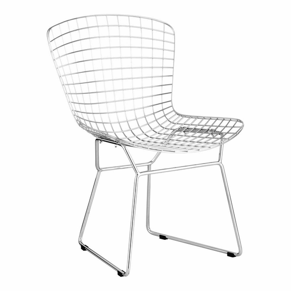 Wire Dining Chair Chrome Set of 2