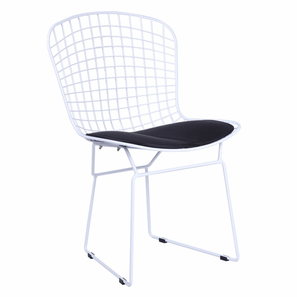 Wire Leatherette Dining Side Chair
