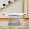 Wire Side Table, Silver