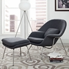 Womb Lounge Chair and Ottoman Wool Dark Gray