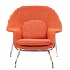Womb Lounge Chair and Ottoman Wool Orange Tweed
