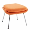 Womb Lounge Chair and Ottoman Wool Orange