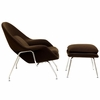 Womb Lounge Chair and Ottoman Wool Brown