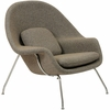Womb Lounge Chair and Ottoman Wool Oatmeal