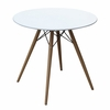 "WoodLeg 36"" Fiberglass Top Dining Table, White"