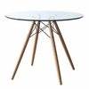 "WoodLeg 48"" Dining Table, Clear"