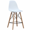 Woodleg Counter Chair Square Base, White