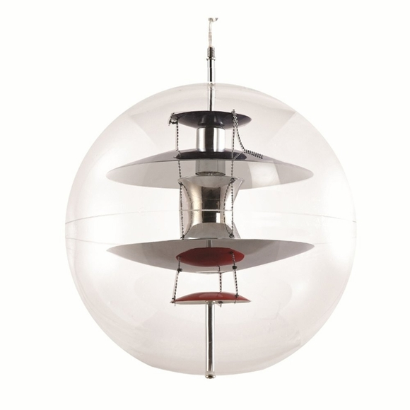 World Hanging Lamp, Clear
