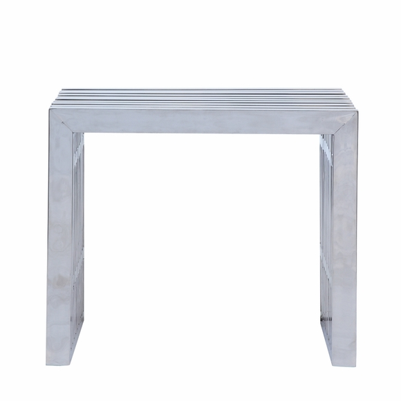 Zeta Stainless Steel Short Bench Silver Modern In Designs