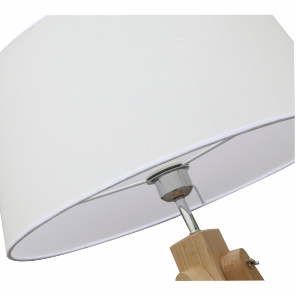 Zone floor lamp natural modern in designs for Your zone floor lamp replacement shades